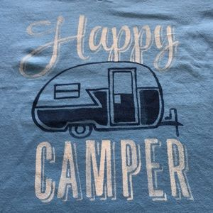 NWT Life is Good- Happy Camper Ladies T-Shirt